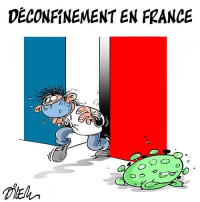 Déconfinement en France - Dilem - TV5 - Gagdz.com
