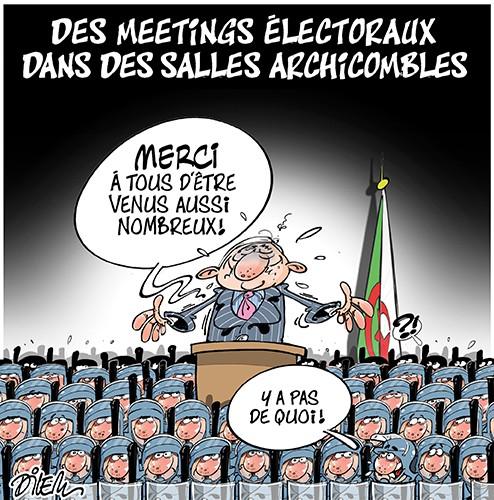 Des meetings électoraux dans les salles archicombles - Dilem - Liberté - Gagdz.com