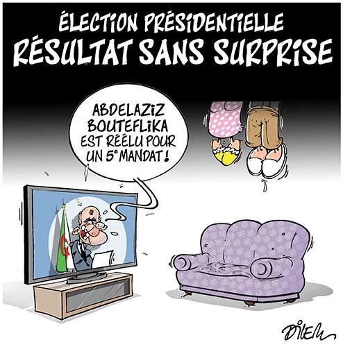 Election présidentielle résultat sans surprise - Dilem - Liberté - Gagdz.com