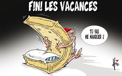 Fini les vacances l'été - Dessins et Caricatures, Le Hic - El Watan - Gagdz.com