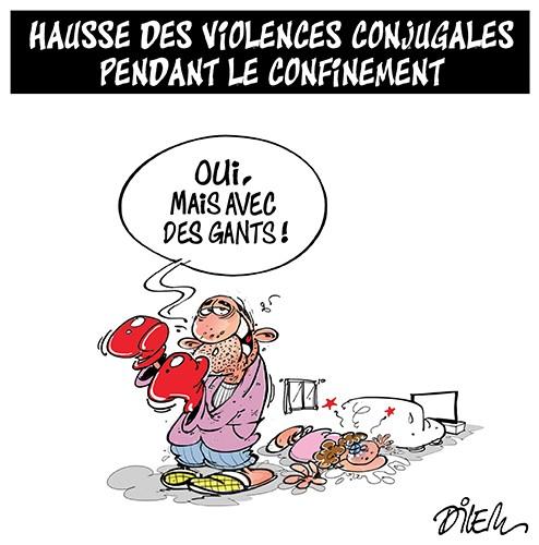 Hausse des violences conjugales pendant le confinement - Dilem - Liberté - Gagdz.com