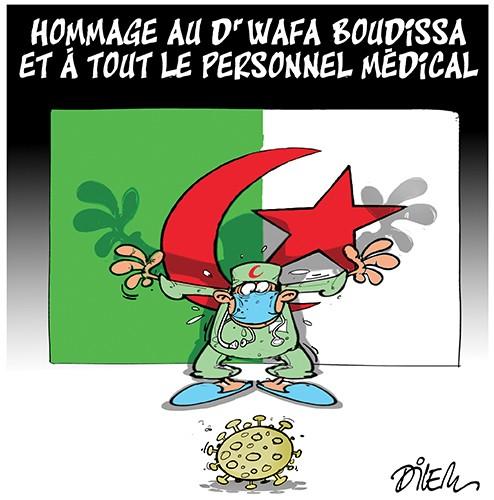 Hommage au Dr Wafa Boudissa et à tout le personnel médical - Dilem - Liberté - Gagdz.com