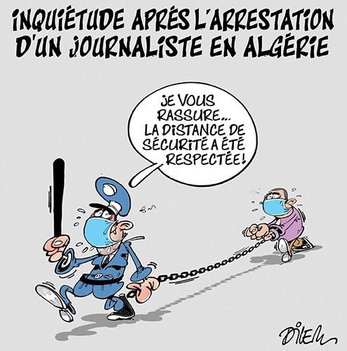 Inquiètude après l'arrestation d'un journaliste en Algérie - Dilem - Liberté - Gagdz.com