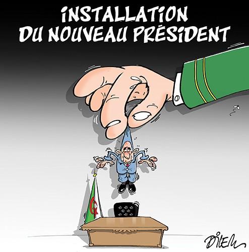 Installation du nouveau président Tabboune - Dilem - Liberté - Gagdz.com