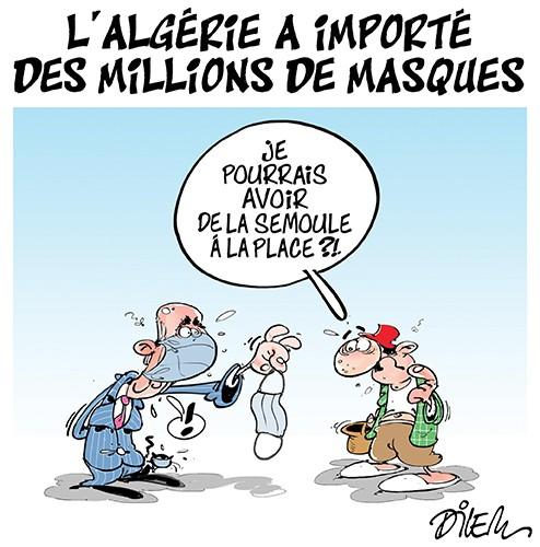 L'Algérie a importé des millions de masques - Dilem - Liberté - Gagdz.com