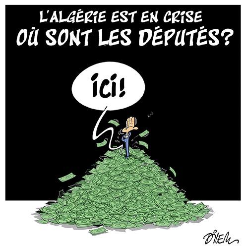 L'Algérie est en crise ! Où sont les députés ? - Dessins et Caricatures, Dilem - Liberté - Gagdz.com