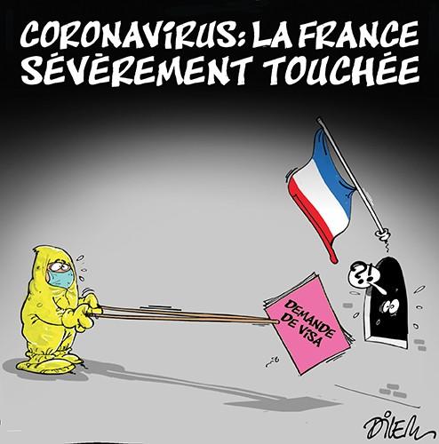 La France sévèrement touchée par le coronavirus - Dilem - Liberté - Gagdz.com