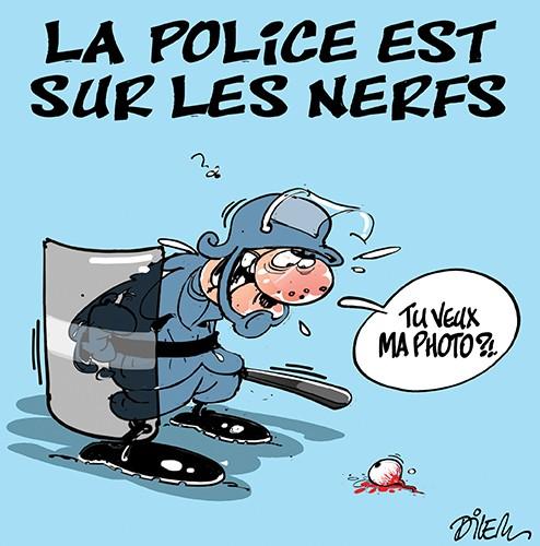 La police est sur les nerfs - Dilem - Liberté - Gagdz.com