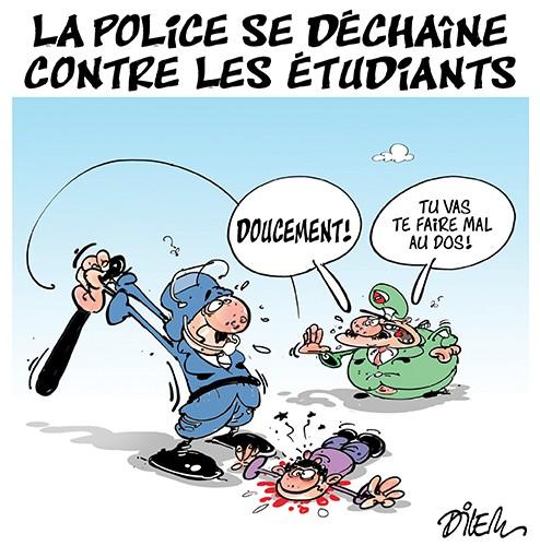 La police se déchaîne contre les étudiants - Dilem - Liberté - Gagdz.com
