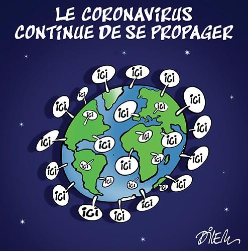 Le coronavirus continue de se propager - Dilem - Liberté - Gagdz.com