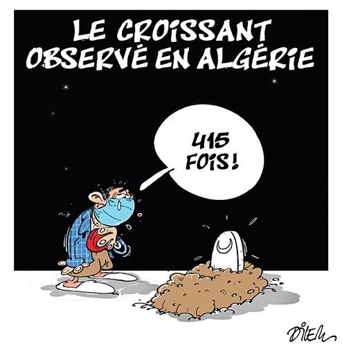 Le croissant observé en Algérie. 415 fois. - Dilem - Liberté - Gagdz.com