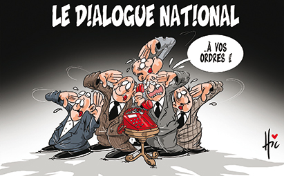 Le dialogue national - Dessins et Caricatures, Le Hic - El Watan - Gagdz.com