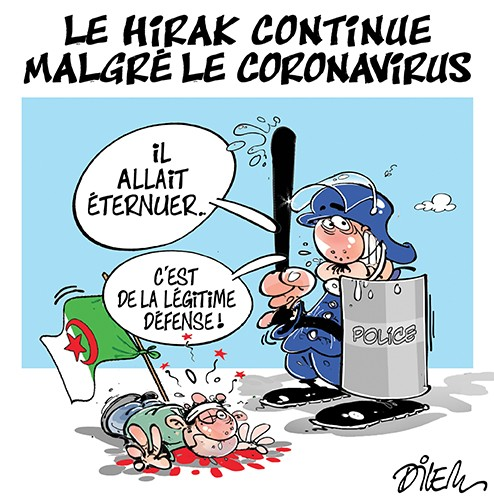 Le hirak continue malgré le coronavirus - Dilem - Liberté - Gagdz.com
