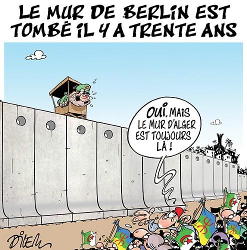 Le mur de Berlin est tombé il y a trente ans - Dilem - Liberté - Gagdz.com