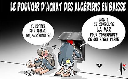 Le pouvoir d'achat des algériens en baisse - Dessins et Caricatures, Le Hic - El Watan - Gagdz.com