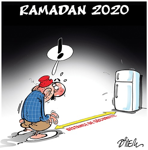 Le ramadan 2020 et distanciation - Dessins et Caricatures, Dilem - Liberté - Gagdz.com