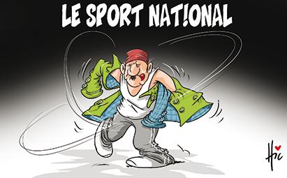 Le sport national algérien - Dessins et Caricatures, Le Hic - El Watan - Gagdz.com
