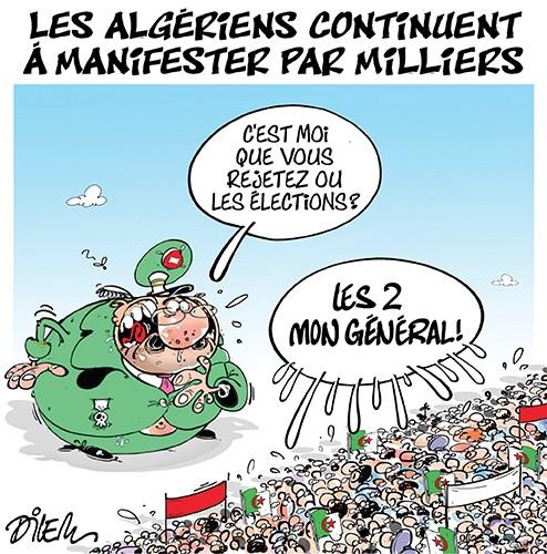 Les algériens continuent à manifester par milliers - Dilem - Liberté - Gagdz.com