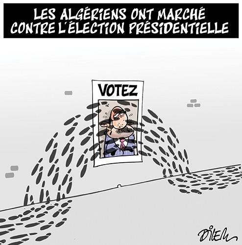 Les algériens ont marché contre l'élection présidentielle - Dilem - Liberté - Gagdz.com