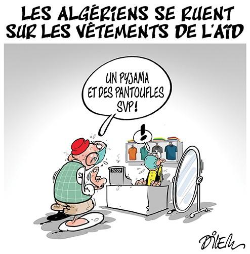 Les algériens se ruent sur les vêtement de l'aïd - Dilem - Liberté - Gagdz.com