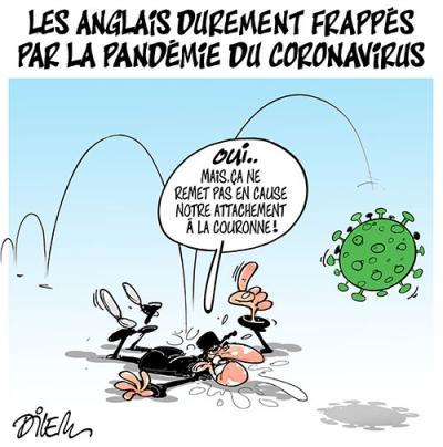 Les anglais durement frappés par la pandémie du Coronavirus - Dessins et Caricatures, Dilem - TV5 - Gagdz.com