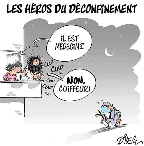 Les héros du déconfinement - Dessins et Caricatures, Dilem - Liberté - Gagdz.com