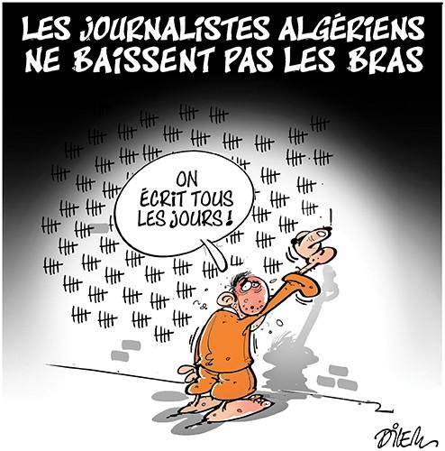 Les journalistes algériens ne baissent pas les bras - Dessins et Caricatures, Dilem - Liberté - Gagdz.com