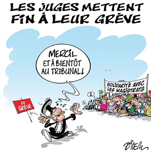 Les juges mettent fin à leur grève - Dilem - Liberté - Gagdz.com