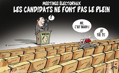 Meetings électoraux : Les candidats ne font pas le plein - Dessins et Caricatures, Le Hic - El Watan - Gagdz.com