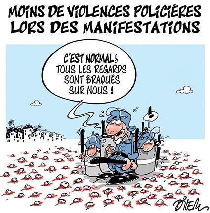 Moins de violences policières lors des manifestations - Dilem - Liberté - Gagdz.com