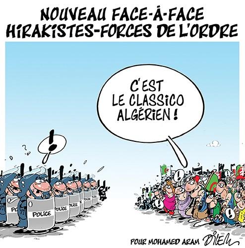Nouveau face-à-face hirakistes-forces de l'ordre - Dilem - Liberté - Gagdz.com