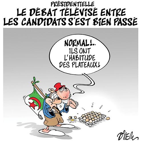 Présidentielle : Le débat télévisé entre les candidats s'est bien passé - Dilem - Liberté - Gagdz.com