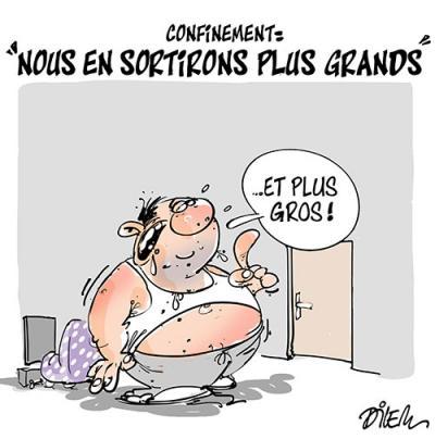 Confinement : Nous en sortirons plus grands - Dessins et Caricatures, Dilem - TV5 - Gagdz.com