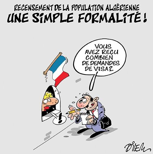 Recensement de la population algérienne : Une simple formalité - Dilem - Liberté - Gagdz.com