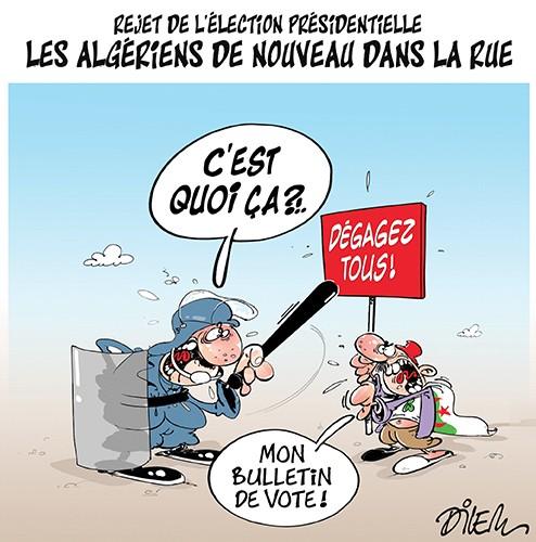 Rejet de l'élection présidentielle. Les algériens de nouveau dans la rue - Dilem - Liberté - Gagdz.com