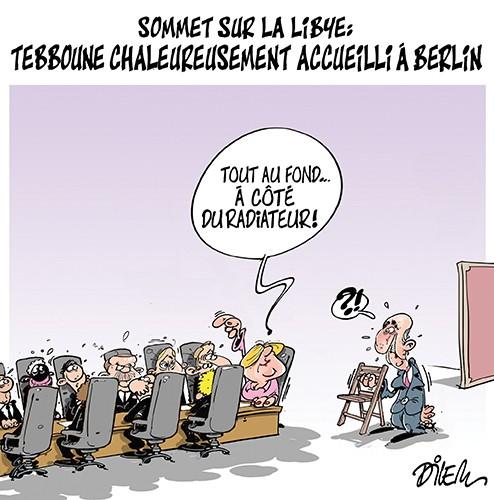 Sommet sur la Libye : Tebboune chaleureusement accueilli à Berlin - Dilem - Liberté - Gagdz.com