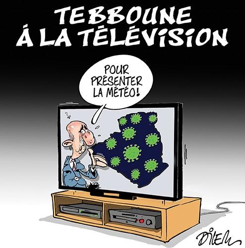 Tebboune à la télévision pour présenter la météo - Dilem - Liberté - Gagdz.com