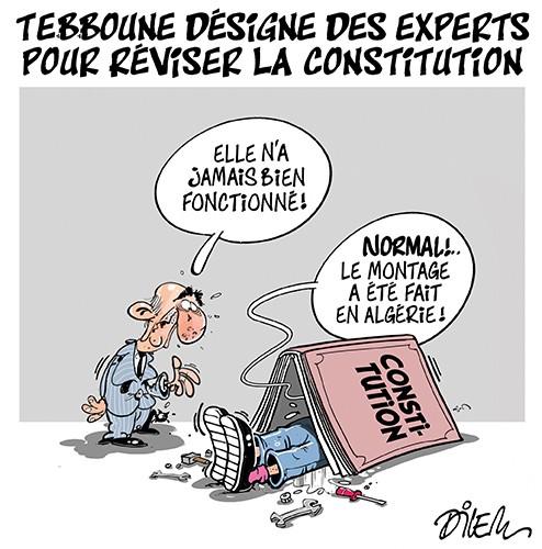 Tebboune désigne des experts pour réviser la constitution - Dilem - Liberté - Gagdz.com