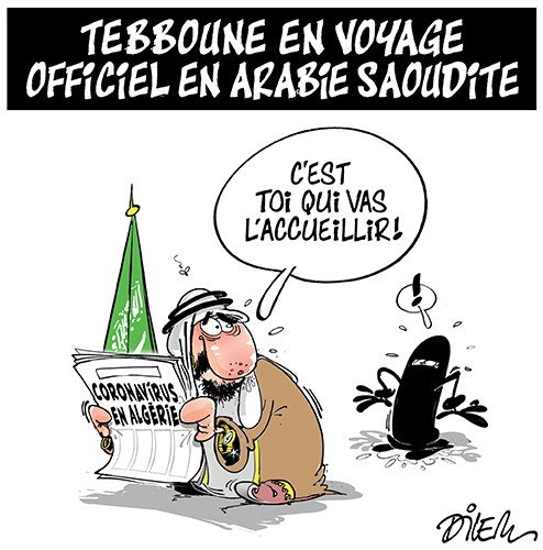 Tebboune en voyage officiel en Arabie Saoudite - Dilem - Liberté - Gagdz.com