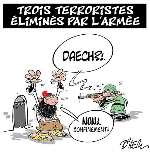 Trois terroristes éliminés par l'armée - Dilem - Liberté - Gagdz.com