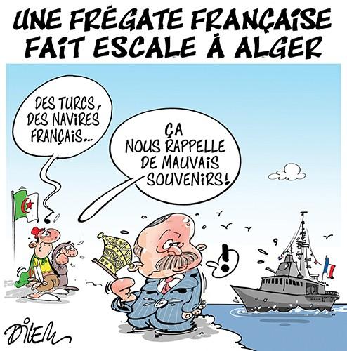 Une frégate française fait escale à Alger - Dilem - Liberté - Gagdz.com
