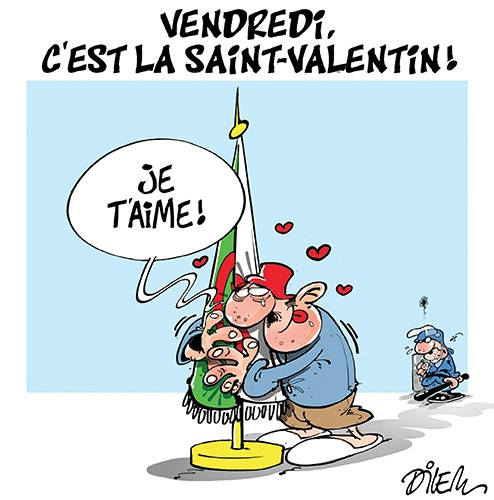Vendredi, c'est la Saint-Valentin - Dilem - Liberté - Gagdz.com