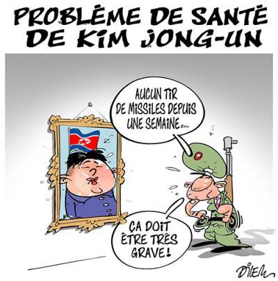 Problème de santé de Kim Jong-un - Dessins et Caricatures, Dilem - TV5 - Gagdz.com