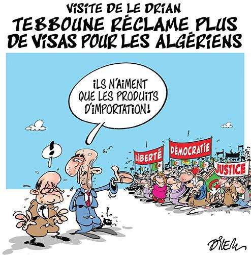 Visite de Le Drian : Tebboune réclame plus de visas pour les algériens - Dilem - Liberté - Gagdz.com