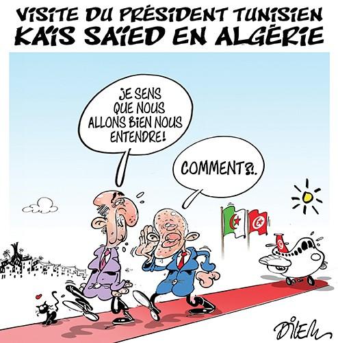 Visite du président tunisien Kais Saied en Algérie - Dilem - Liberté - Gagdz.com