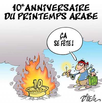 10e anniversaire du printemps arabe, ça se fête - Dilem - TV5 - Gagdz.com
