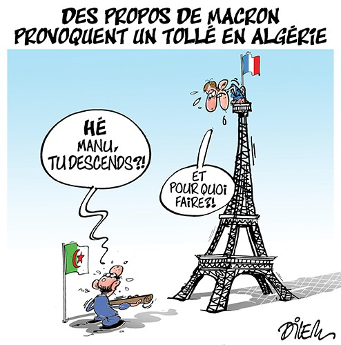 Des propos de Macron provoquent un tollé en Algérie - Dilem - Liberté - Gagdz.com