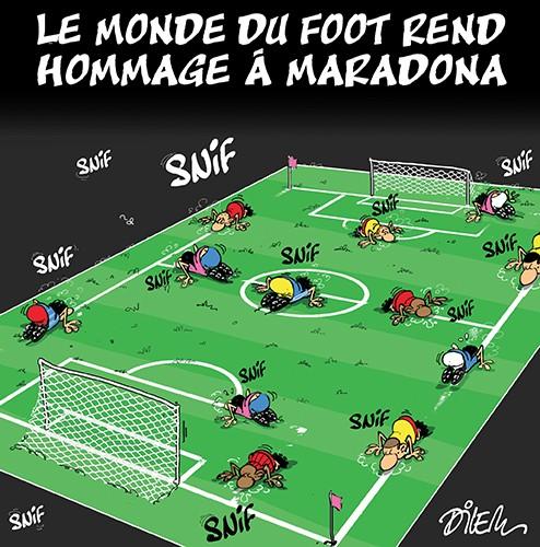 Le monde du foot rend hommage à Maradona - Dilem - Liberté - Gagdz.com
