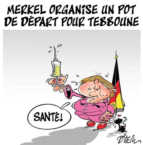 Merkel organise un pot de départ pour Tebboune - Dilem - Liberté - Gagdz.com