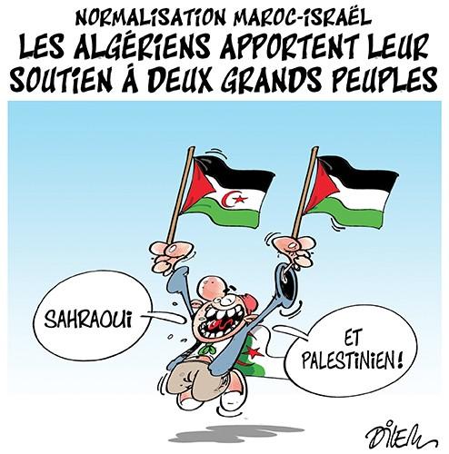 Normalisation Maroc-Israël, les algériens apportent leur soutien à deux grands peuples - Dilem - Liberté - Gagdz.com